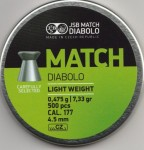 JSB Match Diabolo 0,475 g śrut kal. 4,5 mm